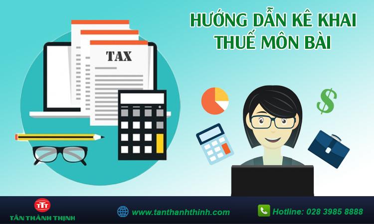 Hướng dẫn kê khai thuế môn bài